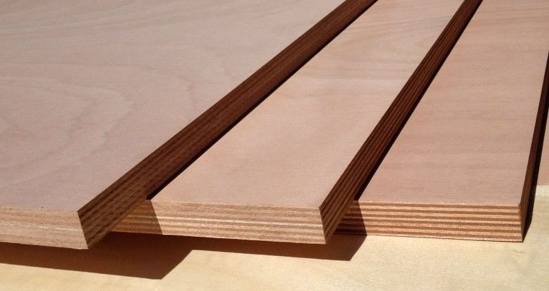 Poplar Core Commercial MR Grade Plywood , Hardwood Moisture Proof Plywood Sheets