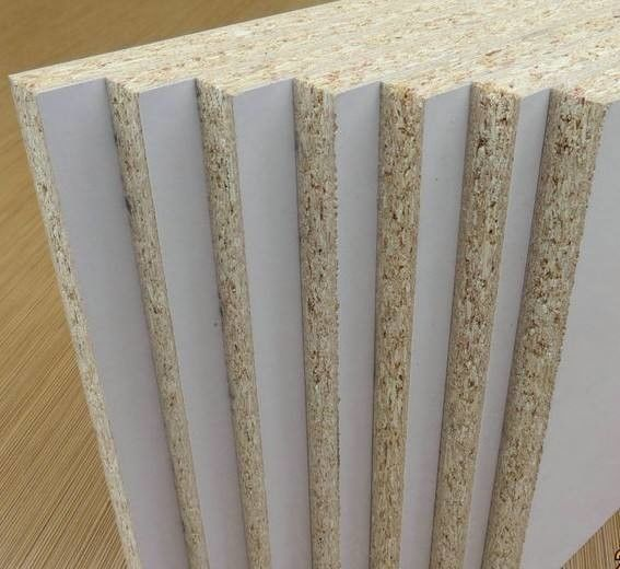 Indoor White Laminated Particle Board With Surface Finish Customized Thickness