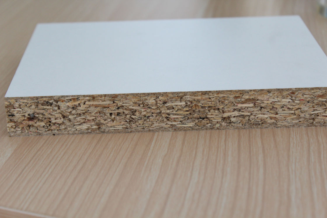 Indoor Solid Core Plain Particle Board , Anti - Impact High Density Particle Board