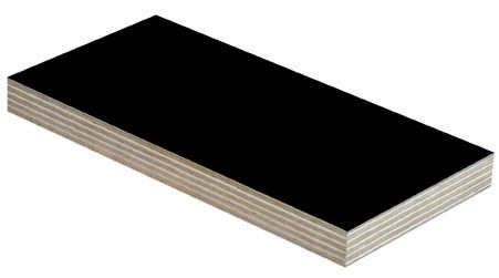 Anti - Slip Thin Black Film Faced Plywood With Successive Mechanical Treatment