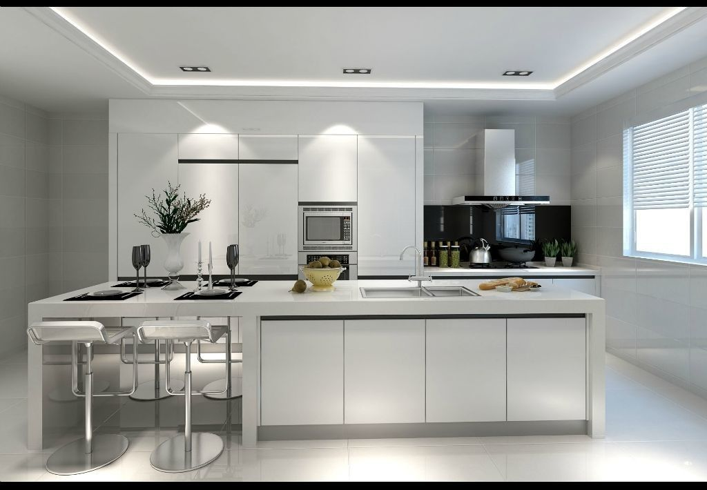 Customized Plywood Kitchen Cabinets , Pure Wooden Wardrobe Designs For Kitchen