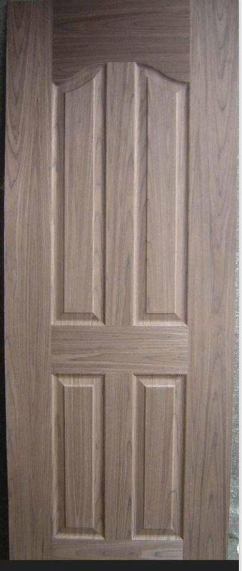 Natural Wood Veneered Molded Door Skin , Low Carbon Rate Melamine Door Skin