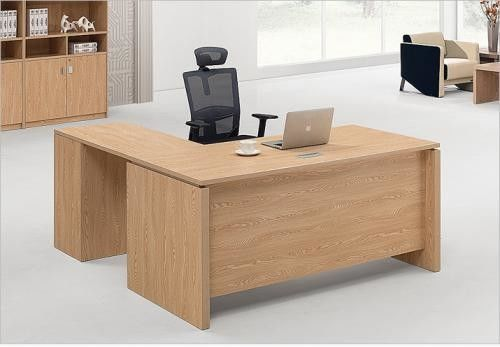 High Bending Strength Particle Board Office Furniture With Four Stainless Steel Legs
