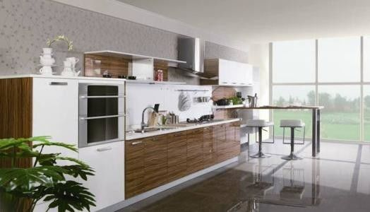 Melamine Faced Particle Board Kitchen Cabinets For Commercial  Kitchen Decoration