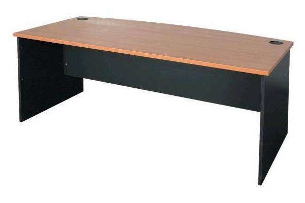 Antique Style Particle Board Computer Desk , MFC Coat Melamine Computer Table