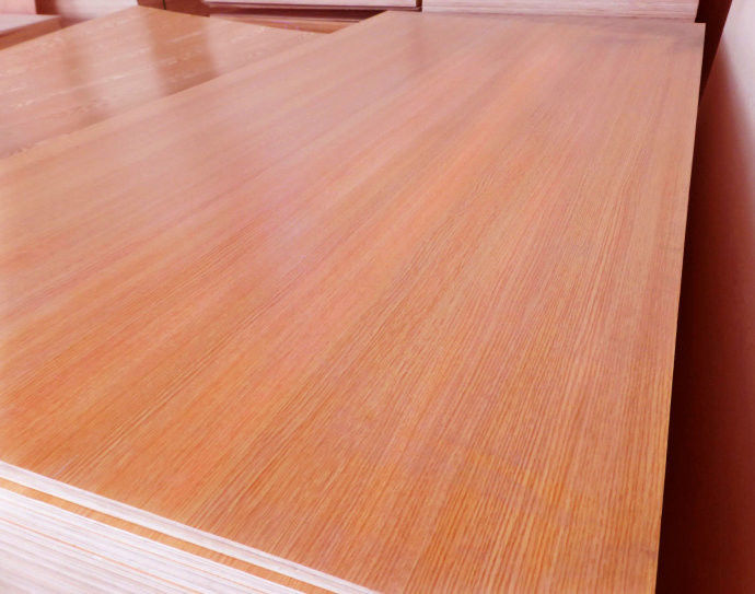 Standard Size Veneered MDF Panels / Construction Flooring MDF Wood Panelling